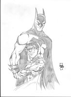 Batman and Robin by sketchheavy