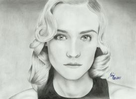 Diane Kruger  -the goddess- by LeyuArt