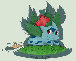 #002 Ivysaur by poketmon