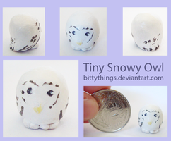 Tiny Snowy Owl - SOLD by Bittythings