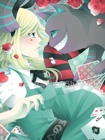Fake Red Roses and Playing Cards by Firefly-Raye