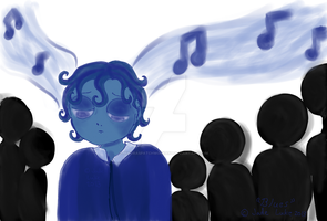 The Blues by MinorasPatchworkArt