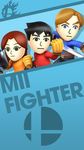 Mii Fighters Smash Bros. Phone Wallpaper by MrThatKidAlex24