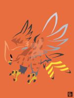 Talonflame (Tribal) by calfrills