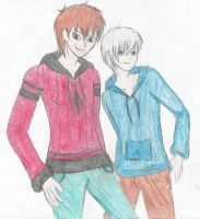 Jack Frost and teen Jamie by TheXBunny