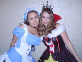 Alice and the Queen of Hearts by Cartoon-Eric