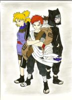 Gaara,Temari,and Kankuro Colored by xXEpicEmoXx