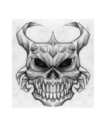 skull with horns by jjnomann