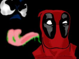 Deadpool meets Venom by VioLentzIV