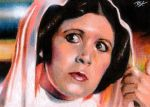 Princess Leia Sketch Card by Ethrendil