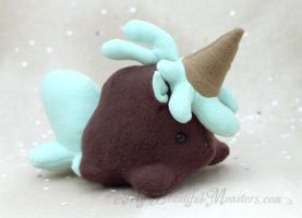 Icecream-icorn Choc-minteo Plush by MyBeautifulMonsters