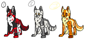 Dog adopts batch 1 by Apriifox