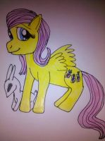 First attempt at Fluttershy by Mythhunter