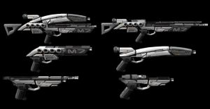 GUNS mass effect by scifilicious