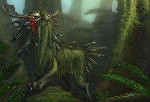 Ancient Rainforest Guardian by rob-powell