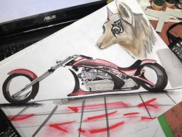 a bike and a dog... whut? by v3110z
