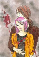 Lupin and Tonks by Meriquee