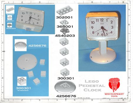 Lego Clock One-sheet by PatronZero