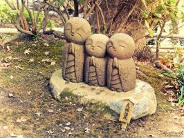 Ryoen Jizo from Hasedera by Gallynette