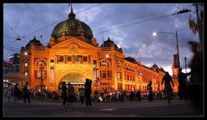 flinders station pano by syncore