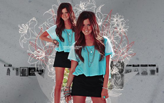 ashley tisdale 3 by mixed-prints