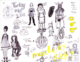 Thanksgiving day doodles by misspepita