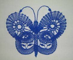 Butterfly Series - Blue by Myrthilla