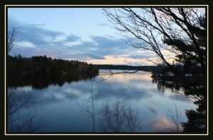 Days end on the French River by AuTuMn-Lee