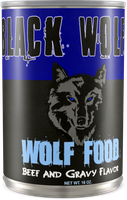 Black Wolf Wolf Food Can by MrAngryDog