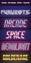 3D 80's Text GraphicStyle by rusakparah