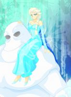 742-FR-Ice Queen and Frozen Guardian. by Silverlegends
