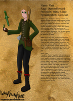Character Sheet: Vain by Rayder3d