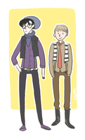 Hipster Sherlock and John by mellamelfran