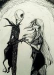 Jack and Sally by WillowingTrees