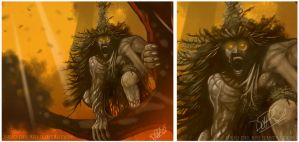 Trauko, the devil in the island by juliodelrio