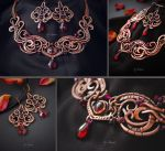 Necklace and earrings Enchantment of passion by AstannaJewelry
