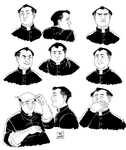 Some more Little World doodles - Don Camillo by The-French-Belphegor