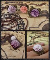 Flower Rings and Necklace by zetallis