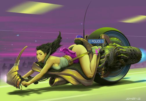 Monobike from Android Blues, 1996 by stahlber