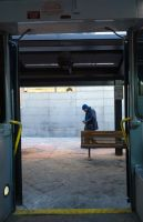 Through the Bus Doors 20 by bowtiephotography