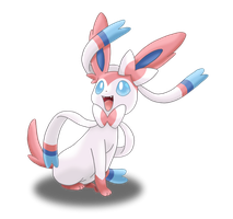 Sylveon - Alternate Colouring Style by Tails19950