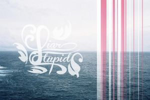 STUPID LIAR TYPOGRAPHIC BY ERIOL JAN by Eriol-Diggory-Art
