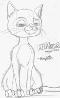 Disney: Mittens the Cat from Bolt by Roxyielle