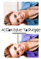 Action Blue to Purple by AmazingObsession