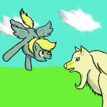 Derpy Meets Namaht by LeylaMarias