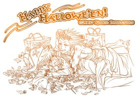 Akuroku - Happy Hallowe'en by Nijuuni