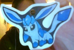 Glaceon 2D Ornament by Eevee4Ever