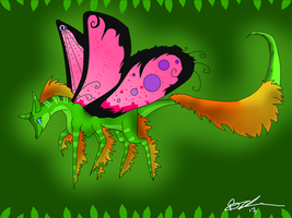 Butterfly Dragon by XxPuppyProductionsxX