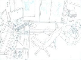 Room Line Drawing 1 by WannaBeRainbow