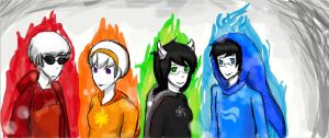 Homestuck Kids by nekobaka99